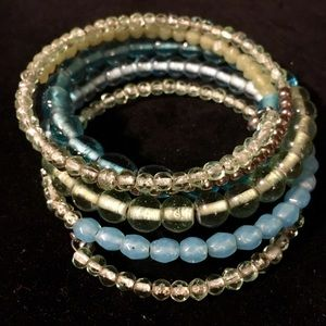 Catherine's Glass Beaded Wrap Bracelet